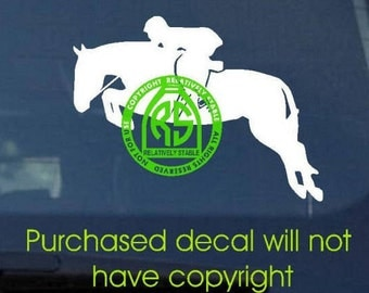 NEW!   hunter decal, horse show decal, equestrian decal, horse decal