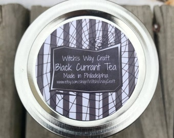 Black Currant Tea Scented Soy Candle