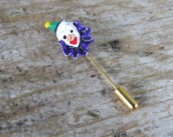 Vintage Clown Stick Pin Lapel Pin
