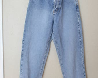 vintage calvin klein button fly 1980's high rise mom  jeans denim 30