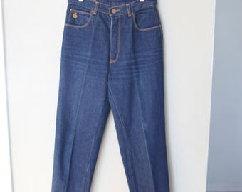 vintage 1980's gloria vanderbilt high rise waist mom  jeans denim 28