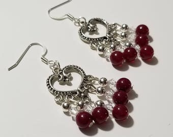 Heart Chandelier Earrings