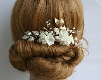 Wedding hair pin Hydrangea Bridal hair pin Flower Bridal Hair flower Bridal headpiece Pearl Flower pin Bridal Hair accessories