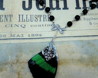 Cabinet of curiosities, spirit 1900 steampunk Butterfly Necklace