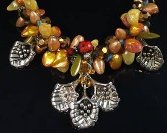 Beaded Flower Kumi Necklace Kit