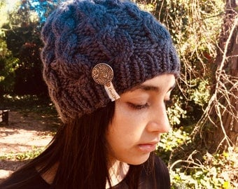 Cable/Hand Knit Chunky Beanie