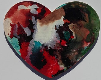 Abstract heart canvas