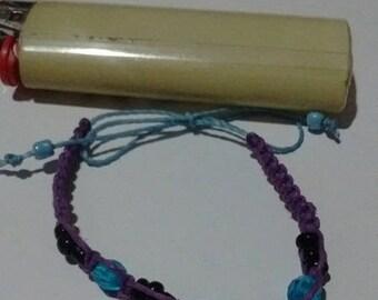 Purple Hemp Bracelet