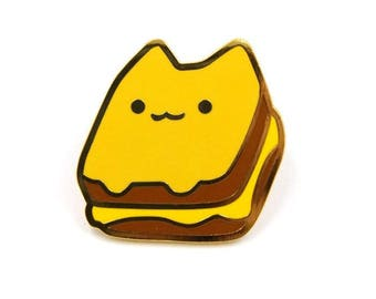Grilled Cheese Cat Enamel Pin