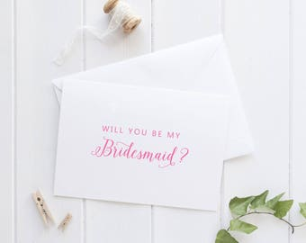 Be my Bridesmaid Card, Will you be my Bridesmaid Gift, Bridesmaid Proposal Card, Bridal Party Proposal, SKU: WYB003