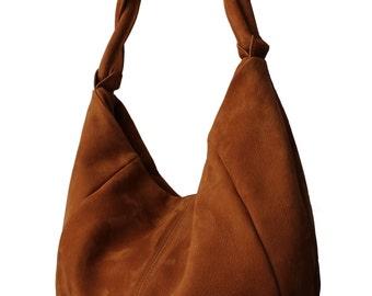 Suede bag, suede leather bag, luxury bag, fashion bag, automne bag, bags from France, travel bag