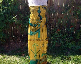 Isis Ancient Egyptian Goddess Maxi Dress
