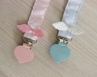 Christmas baby gift, Gift for baby girl, Baby Christmas gifts, Pacifier clip, Baby wings, Pacifier holder, Soothie pacifier clip, dummy clip