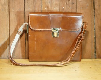 Vintage Polaroid SX-70 Brown Leather Camera Case VG