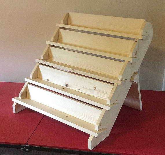 5 shelf 24 tray collapsible riser portable display stand for How to make display shelves for craft show