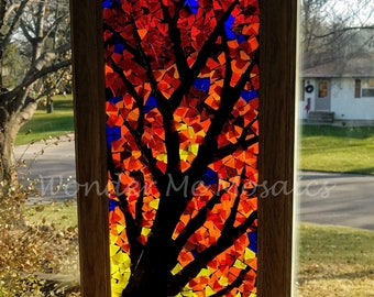Stained Glass Mosaic - Autumn Canopy