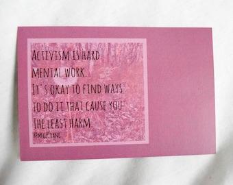 Postcard for healthy activism