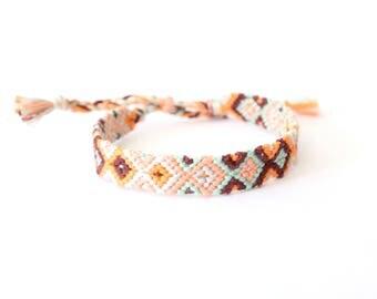 Temptations Collection Friendship Bracelet, Diamond Pattern woven bracelet, knotted bracelet