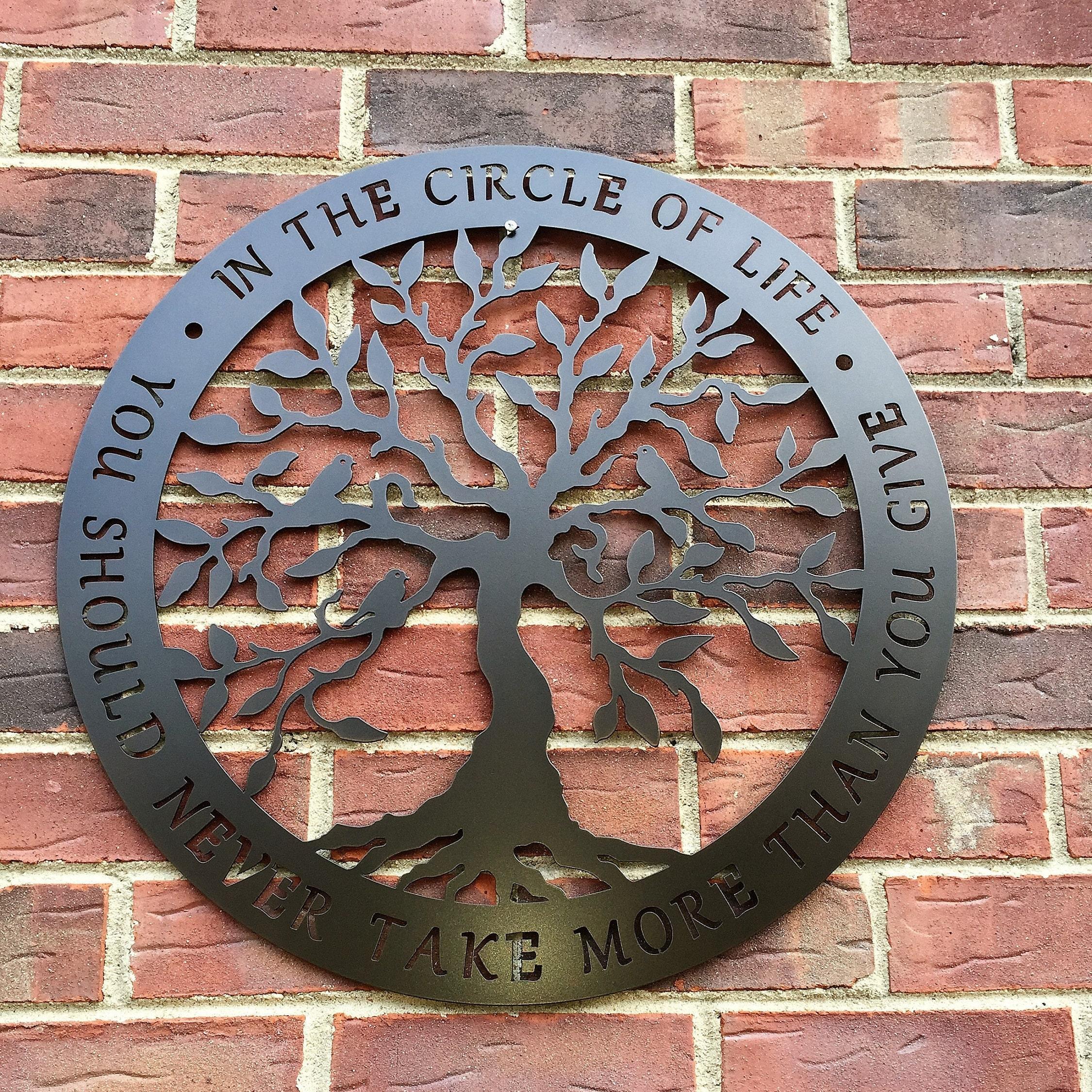 TREE of Life Metal Wall Decor | Circle of Life- Tree of Life ...