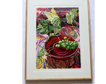 Treille Screenprint Numbered 3/60 by Janet Fish Framed
