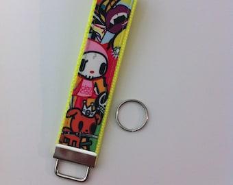 Custom key fob wristlet in Iconic