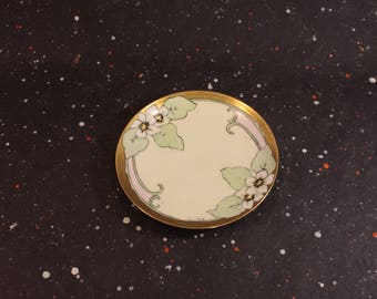 Sevres Bavaria Floral and Gold Plate Vintage Cute Small Plate