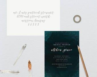 Moody Night Sky Bridal Shower Invitation // 5x7 DIY PRINTABLE // Bridal Shower, Shower the Bride