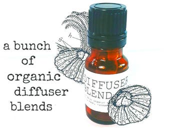 Diffuser Oil | Organic Essential Oil Blends | Aromatherapy Oils | Home Fragrance Oil | Natural Air Freshener | Diffuser Necklace Oil