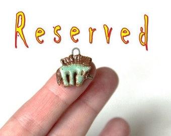 RESERVED for Monica - unicorn - handmade ceramic pendant