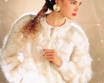 Lady's Cardigan - Size 76 to 107 cm (30 to 42 inches) - Robin 14868 - Vintage Knitting Pattern