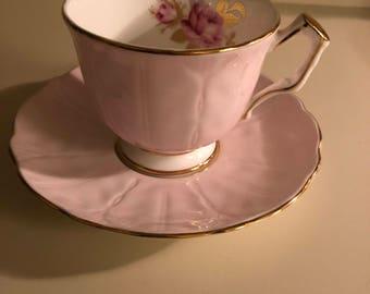 Vintage English Bone China Tea Cup and Saucer