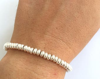 Bracelet with 925 silver-plated washers