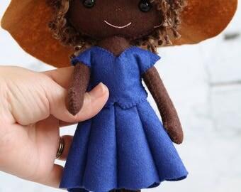 Gingermelon felt doll, Gingermelon doll, Gingermelon, My Felt Doll, Gingermelon girl, felt doll, heirloom doll, doll