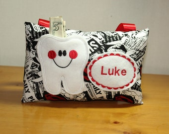 Tooth Fairy Pillow - Gift for kindergartener  - Boys Tooth Fairy Pillow - Personalized  Tooth Fairy Pillow - Storm Trooper Pillow
