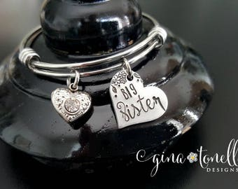 Big Sister Bracelet, Gift for Big Sister Announcement, New Baby Gift, Sibling Gift from Baby, Future Big Sister Gift, Pregnancy Announcement