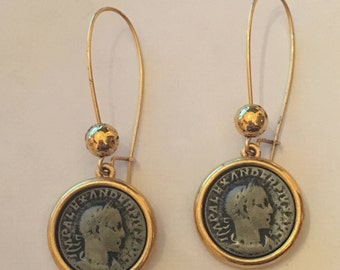 Coin  Drop Earrings Circa Mid 90's