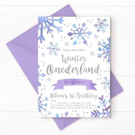 Onederland Winter Onederland Invitation Winter Onederland Winter