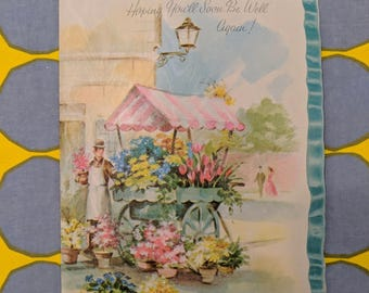 1950s // Hoping You'll Soon Be Well Again! // Vintage Made in USA Greeting Card