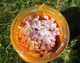 Lilac enfleurage. vegan, organic, handmade, botanical solid perfume. fragrance extraction by hand. rare!