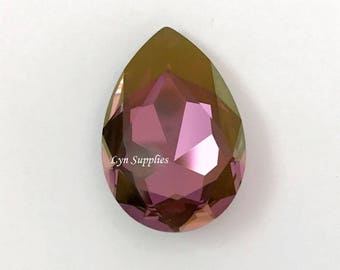 4327 LILAC SHADOW 30x20mm Swarovski Crystal Teardrop Pear Faceted Fancy Stone No Hole