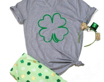 Shamrock T Shirt, CLover T shirt, St. Patricks day shirt women, St Pattys Day, St Patricks Day Funny Shirt, Drinking Shirt