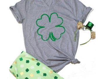 Shamrock T Shirt, CLover T shirt, St. Patricks day shirt women, St Pattys Day, St Patricks Day Funny Shirt, Drinking Shirt