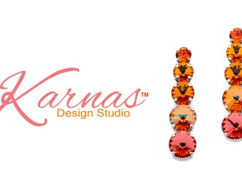 Feelin' HOT HOT HOT 8-14mm Crystal Mixed Size Statement Stud Earrings *Antique Silver *Karnas Design Studio™ *Free Shipping*