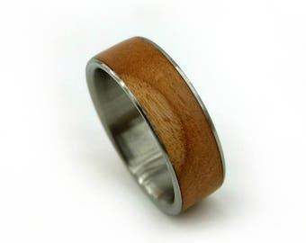 Fallen Cherry Ring, Cherry Wood Ring, Handmade Ring, Ecofriendly Jewelry, Ecofriendly Ring, Upcycled Jewelry, Repurposed Jewelry, GJG