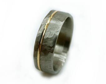 Wedding Ring, Engagement Ring Gold, Men's Wedding Ring, Women's Wedding Ring, Modern Jewelry, Modern Ring, Rings, Handmade Ring, Titanium