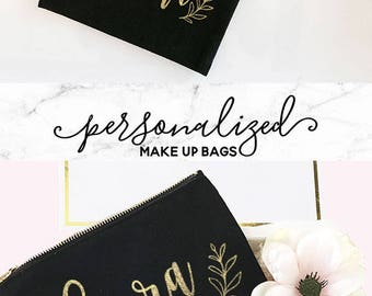 Christmas Gifts for Her - Personalized Gift For Women - Personalized Makeup Bags - Personalized Gifts for Friend  (EB3222P)