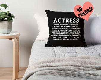 Actress Gift, Actress Definition, Actress Pillow, Acting Gift, Actress Quotes, Actress Prints, Actress Gifts, Theatre Student, Theatre Quote