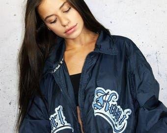 On SALE 1990's Karl Kani Wind Breaker Jacket Vintage 90s Karl Kani Santa Monica Coat Retro Hip Hop Throwback Streetwear FREE SHIPPING