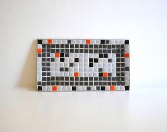 Mid Century Shades of Grey Tile Tray
