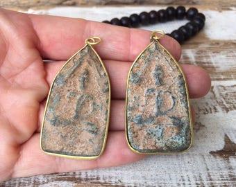 Set of 2 Thai Buddha Amulets / Thai Amulet / Sandstone Amulet / Amulet / Amulet Pendant / Buddhist Amulet / BH09